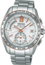 Seiko Brights Sapphire Glass Super Clear Coating Solar Electric Wave Correction 10atm Saga146 Japan Import