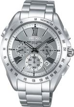 Seiko Brights Silver Chronograph Solar Radio Saga065 Japan Import