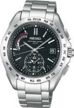 SEIKO BRIGHTZ US for solar radio world time Super black clear coated SAGA087 men's