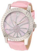 Brillier 03-42327-05 Kalypso Silver-Tone Pink Leather