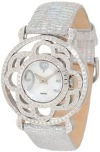 Brillier 04-41421-01-Si Papillon Swiss Quartz Mother-Of-Pearl