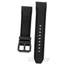 Brooklyn Co Black Silicone Band with Black Stiching CLA-J-ST
