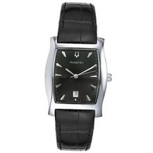 Accutron 26B30 Oxford Black Leather