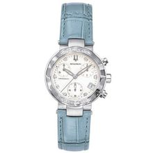 Accutron 26R11 Chamonix Diamond Chronograph Blue Leather