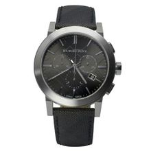 Burberry Black Dial Black Leather BU9362