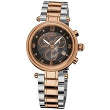 Burgi Black Dial Rose Gold-tone Ladies BUR080RG