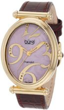 Burgi BU39BUR Oval Case Swiss Quartz Diamond Classic Stainless Steel