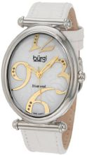 Burgi BU39W Oval Case Swiss Quartz Diamond Classic Stainless Steel