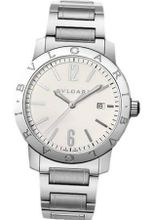 Bvlgari Bvlgari Automatic Silver Dial Black Leather BB41WSSD