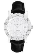 Bvlgari Bvlgari Automatic White Dial Stainless Steel Leather 101379