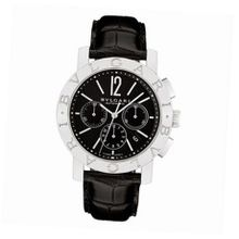 Bvlgari Bvlgari Black Dial Chronograph Black Leather Automatic BB42BSLDCH
