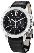 Bvlgari Bvlgari Chronographe Automatic Black Leather Strap BB41BSLDCH
