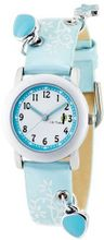 CAC Girls with White Dial and Blue Flower Strap CAC-28-L04
