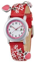 CAC Girls with White dial and Red Flower Strap CAC-28-L07
