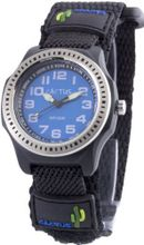 Cactus Children's Quartz with Blue Dial Analogue Display and Black Fabric and Canvas Strap CAC-45-M03