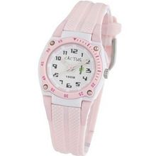 Cactus Children's Quartz with White Dial Analogue Display and Pink Plastic or PU Strap CAC-37-M05