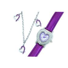 Cactus Gift Set Heart Bracelet & Purple Strap Girls Fashion CAC-43-L09