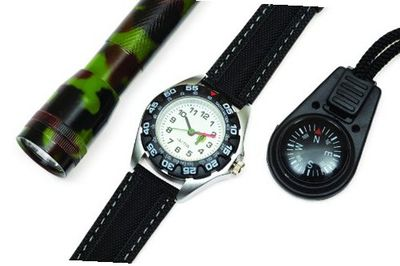 Cactus Gift Set Torch, Compass, Black Strap Boys CAC-46-M01