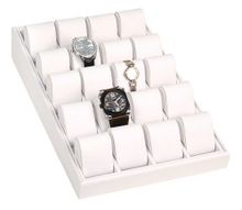 uCaddy Bay Collection White Box Angled Display Tray Case for 20 es