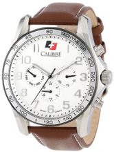 "Calibre SC-4B1-04-001.7 ""Buffalo"" Stainless Steel and Brown Leather"