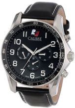 "Calibre SC-4B1-04-007 ""Buffalo"" Stainless Steel and Black Leather"