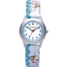 Cannibal Active Blue Ladybird Flower Leather Strap Girls CK176-05