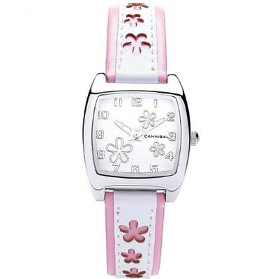 Cannibal Active Ladies Pink & White PU Strap Flower Fashion CL228-14