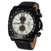 Carbon 14 A1.3 Air Avionautic Chronograph Ivory and Black Dial