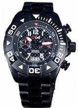 Carbon 14 Chronograph W1.7 with Black Stainless Steel Band