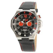 Carbon 14 E1.1 Earth Chronograph Black and Red Dial