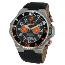 Carbon 14 E1.2 Earth Chronograph Black and Orange Dial