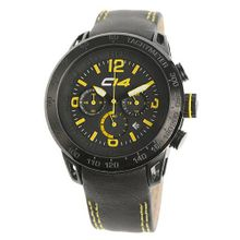 Carbon 14 E2.2 Earth Chronograph Black and Yellow Dial