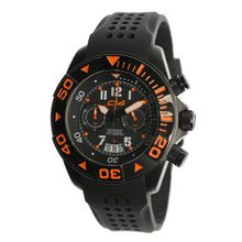 Carbon 14 W1.2 Water 100M Chronograph Black and Orange Dial