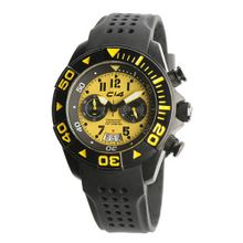 Carbon 14 W1.3 Water 100M Chronograph Yellow and Black Dial