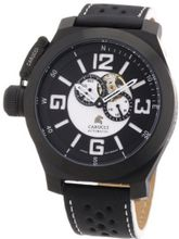 Carucci es Automatic CA2175BK-BK with Leather Strap