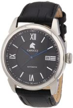 Carucci es Automatic CA2189BK with Leather Strap