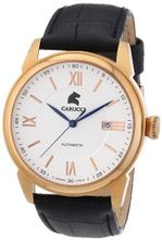 Carucci es Automatic CA2189RG-WH with Leather Strap