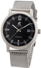 Carucci es Automatic Messina CA2195ST-BK with Leather Strap