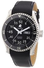 Carucci es Automatic Tarent CA2196BK with Leather Strap