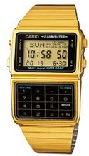 Casio #DBC611G-1D Gold Tone 25 Memory Calculator Databank