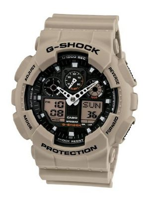 Casio GA100SD-8A G-Shock Military Sand Resin Analog-Digital
