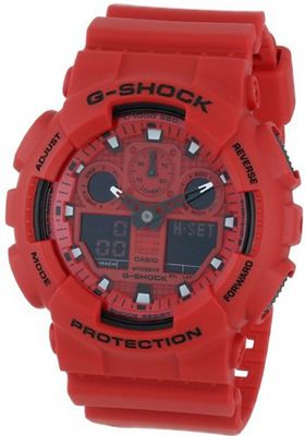 G-Shock GA-100 Neon Highlights Trending Series Luxury - Red / One Size
