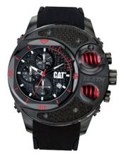 CAT DU 54 , Black / Red Dial and Black Rubber Strap