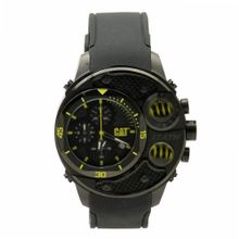 CAT DU 54 , Black / Yellow Dial and Black Silicone Strap
