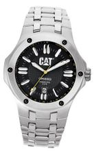 CAT WATCHES A114111124 Navigo Date Black and Yellow Analog Dial Stainless Steel Bracelet