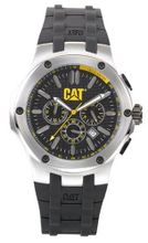 CAT A114321124 Navigo Chrono Black Analog Dial with Black Rubber Strap