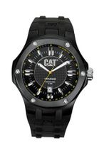 CAT A116121121 Navigo Date Black Analog Dial with Black Rubber Strap