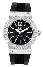 CAT Active Ocean Lady , Black With Stones Dial and Black Silicone Strap