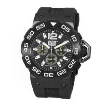 CAT D216321131 Active Ocean Chrono Black Analog Dial with Black Rubber Strap