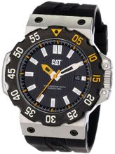 CAT D314121121 Deep Ocean Date Black Analog Dial and Stainless Steel Case with Black Rubber Strap